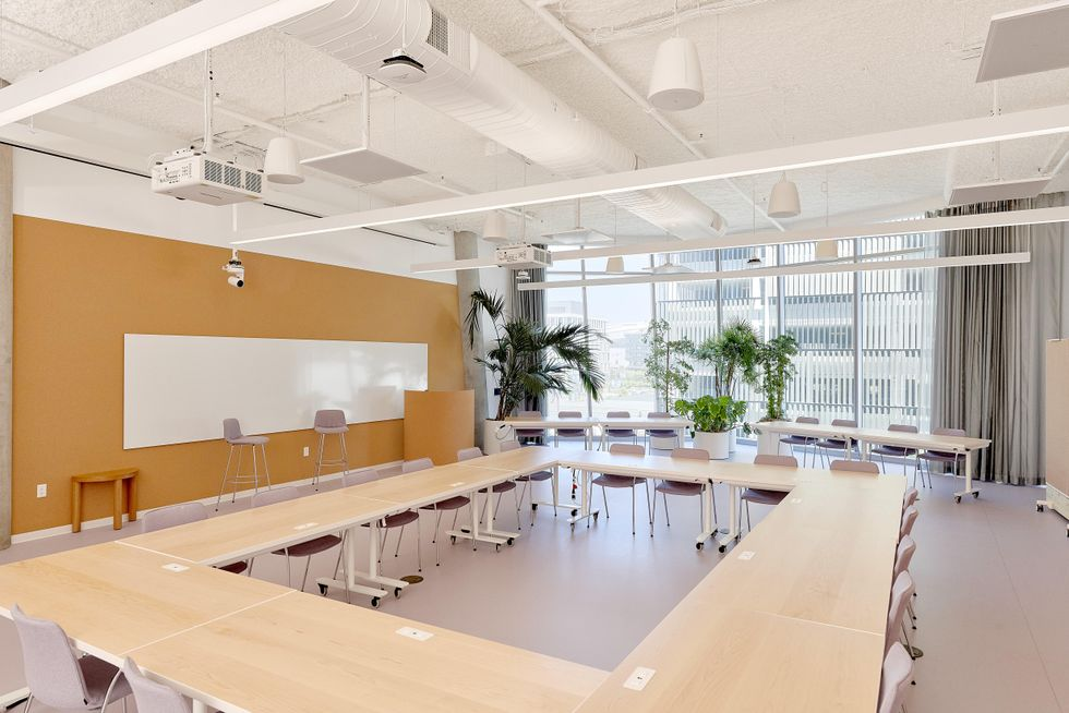 A conference room in a Dropbox Studio