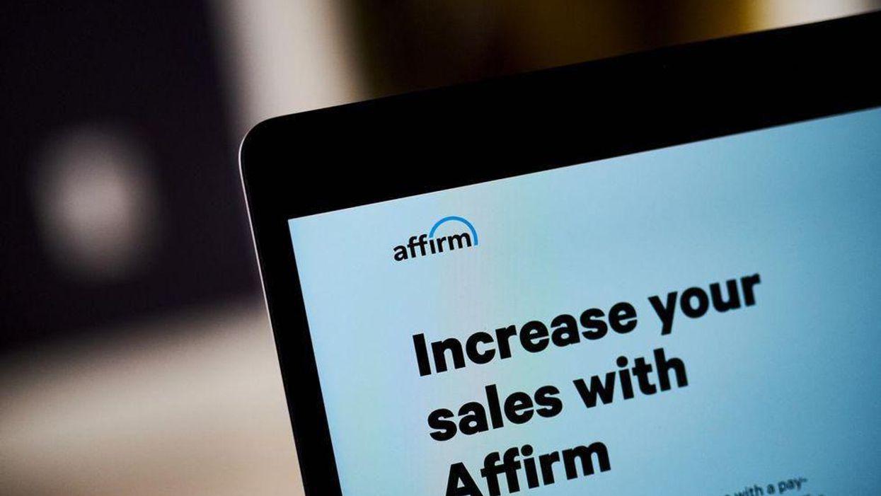 A laptop showing an Affirm sales pitch