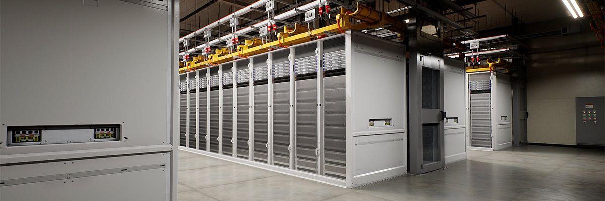 A Microsoft data center. Cloud companies spend billions each quarter to support cloud services.