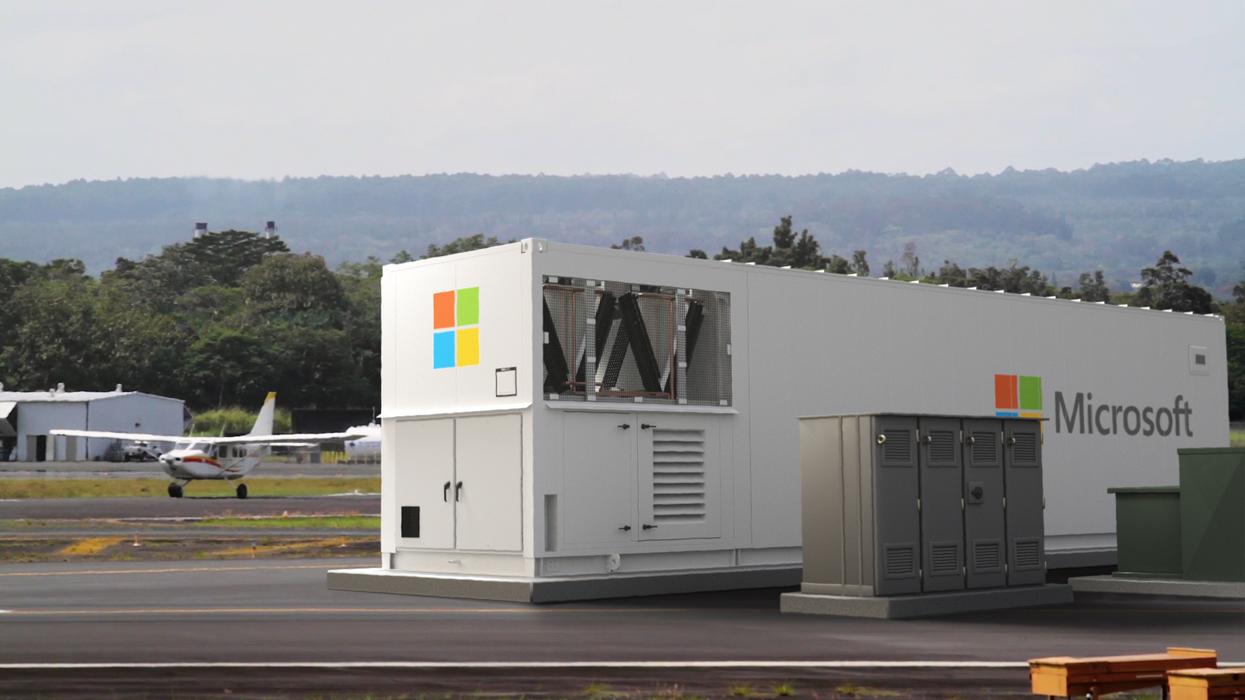 A Microsoft data center.