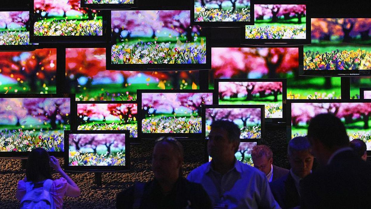 A number of TV screens
