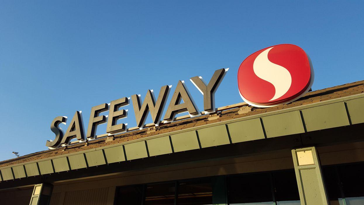 A Safeway store sign