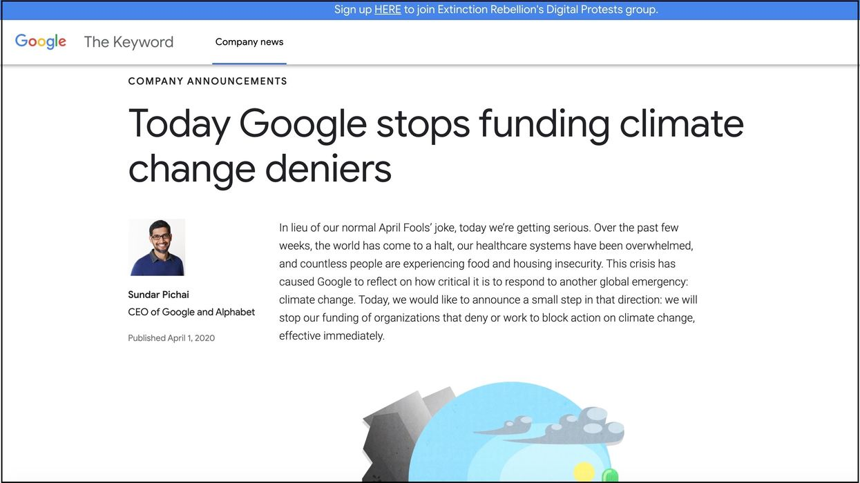 A screenshot of AgreenerGoogle.com