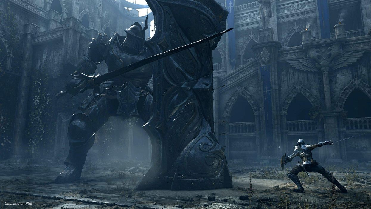 A screenshot of Bluepoint's Demon's Souls remake for the PlayStation 5.