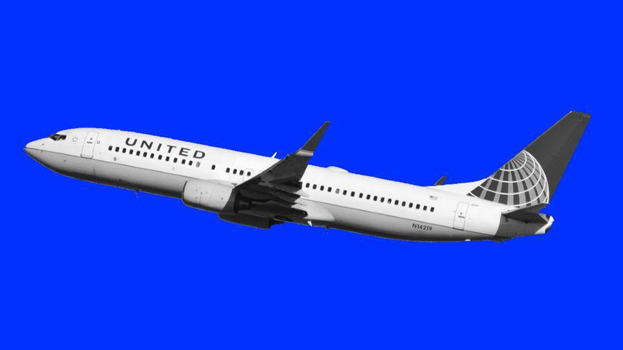 A United airplane in flight