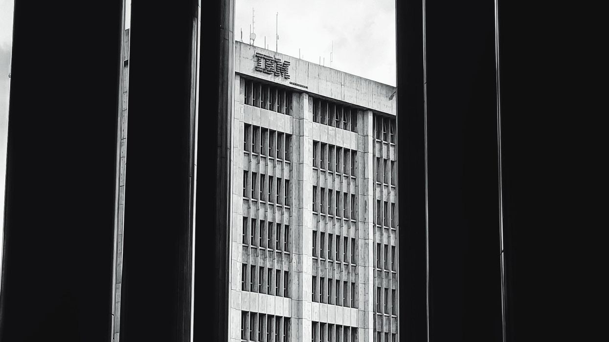 A view of an IBM building
