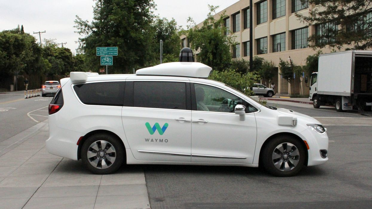 A Waymo self-driving car in California