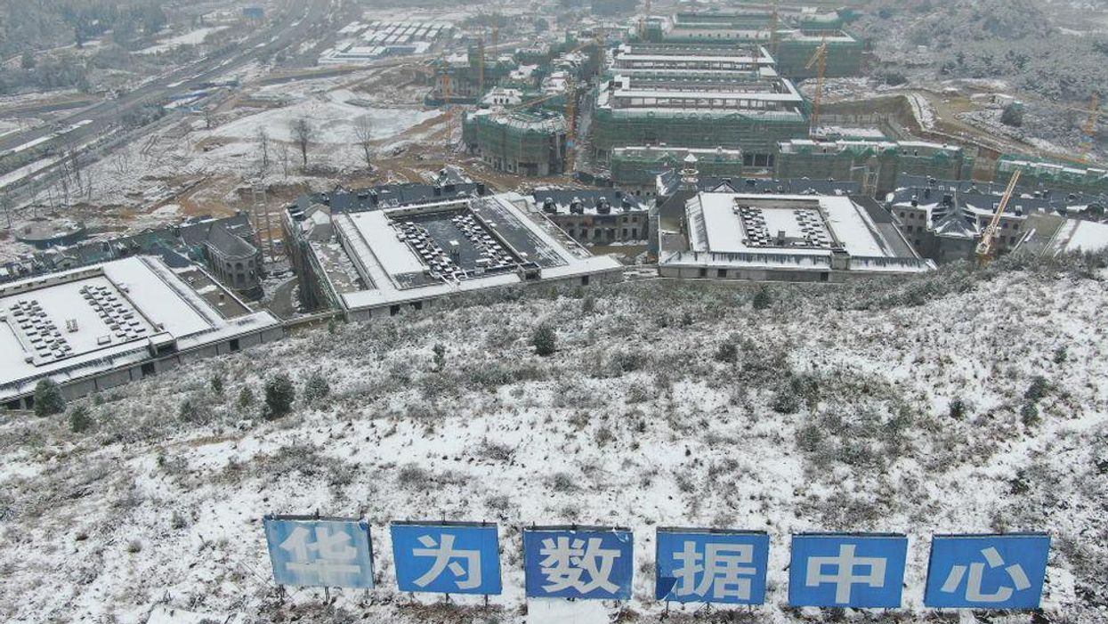 Aerial view of a Huawei data center.