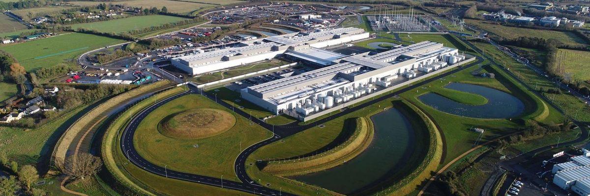 aerial view of Facebook data center in Ireland
