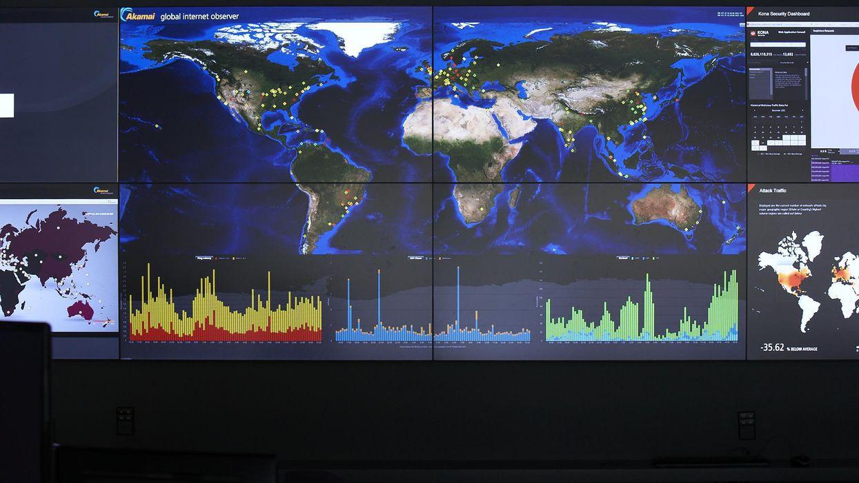 Akamai's network operations control center
