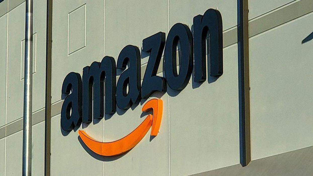 Amazon logo on a building