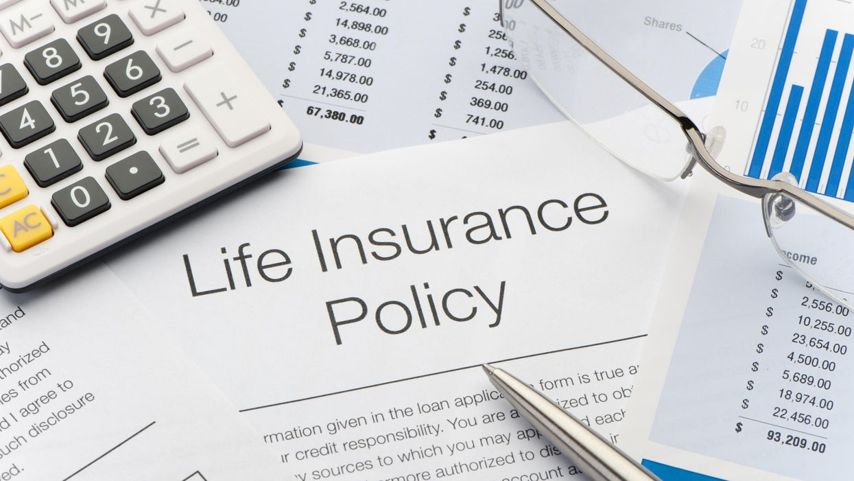 An illustration of a life insurance policy