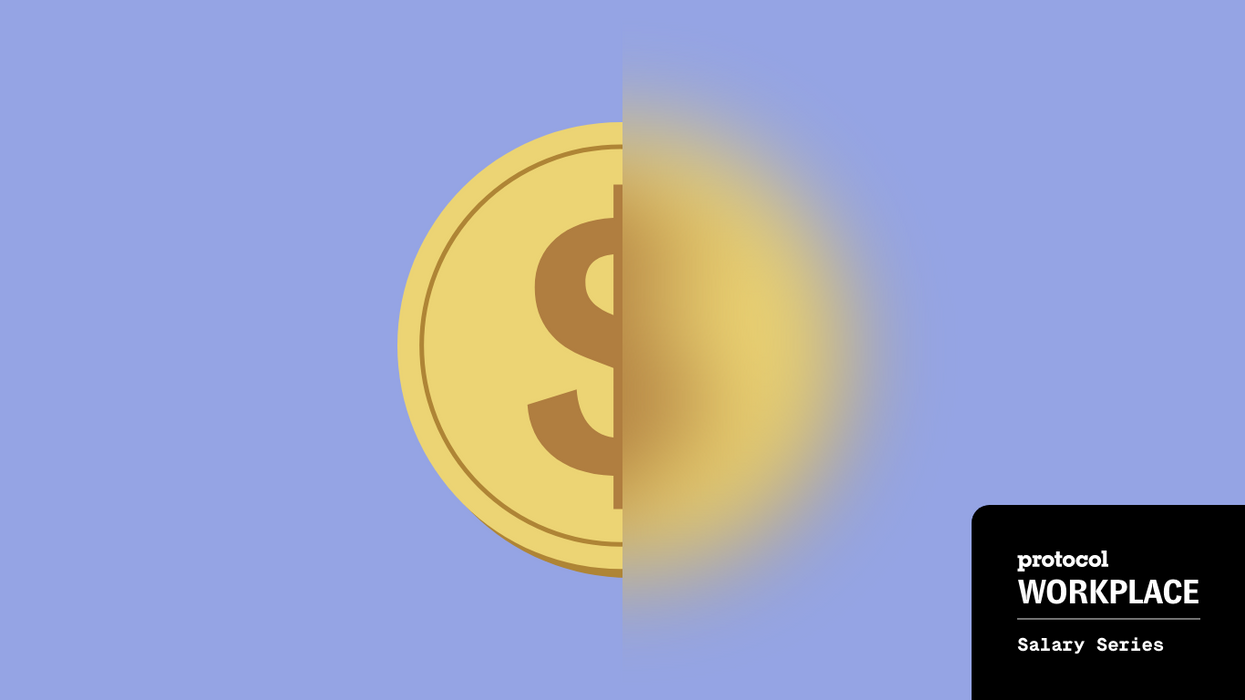 An image of a coin that is half blurred.