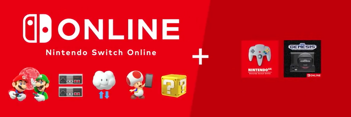An image of Nintendo's Switch Online offerings.
