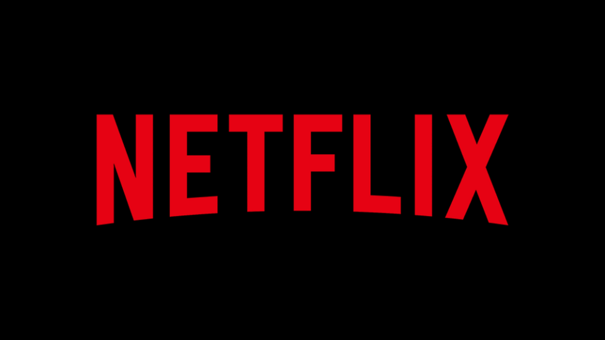 An image of the red Netflix logo on a black background.