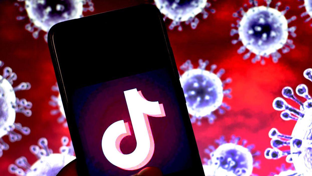 An iPhone with the TikTok logo