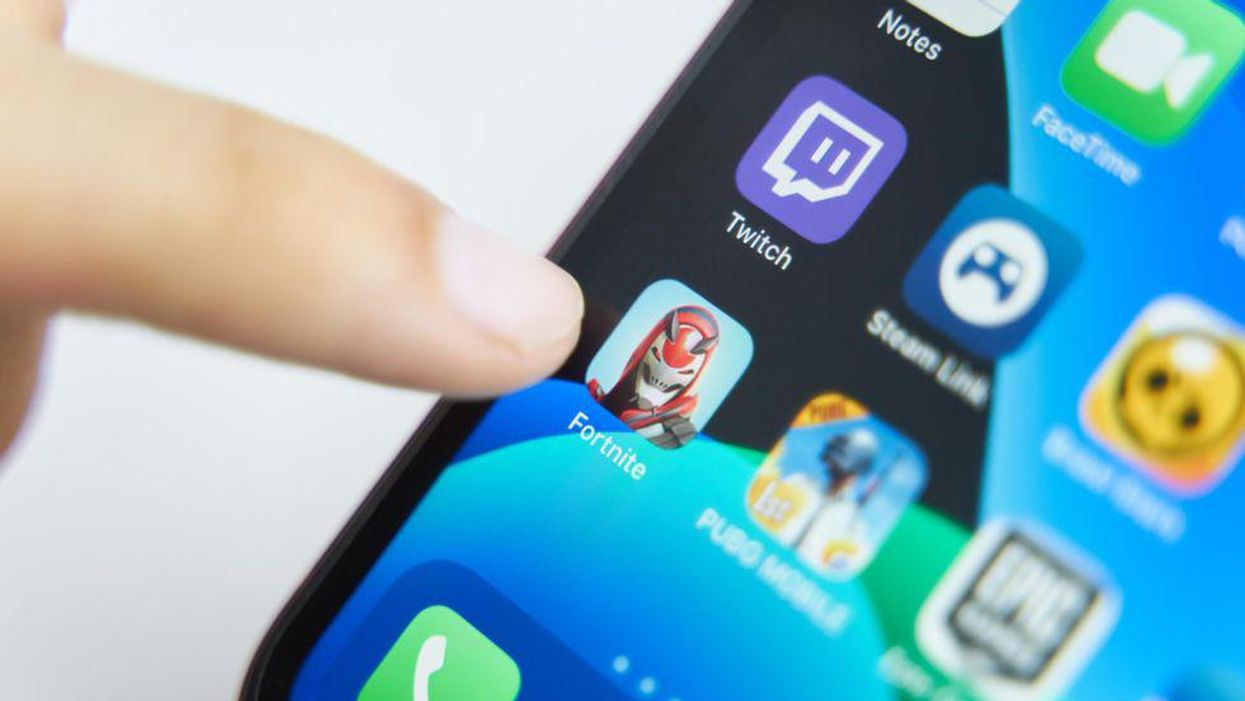An image of the Fortnite app icon on iOS.