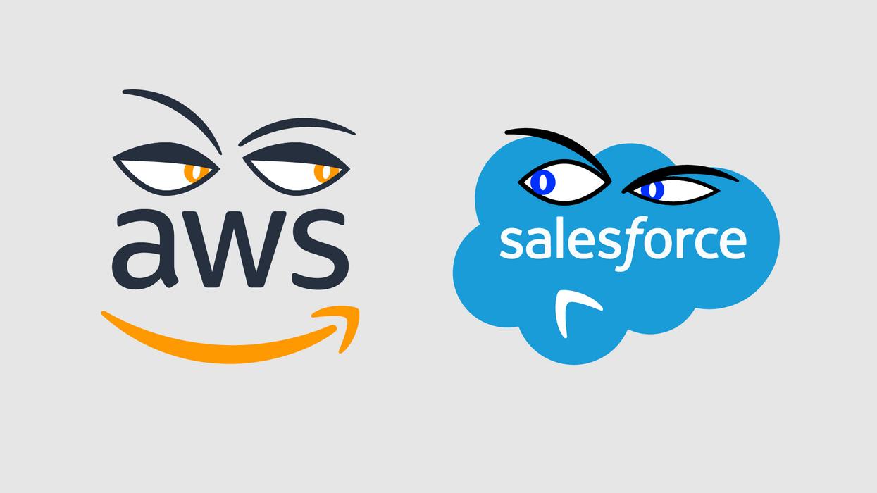 AWS and Salesforce logos