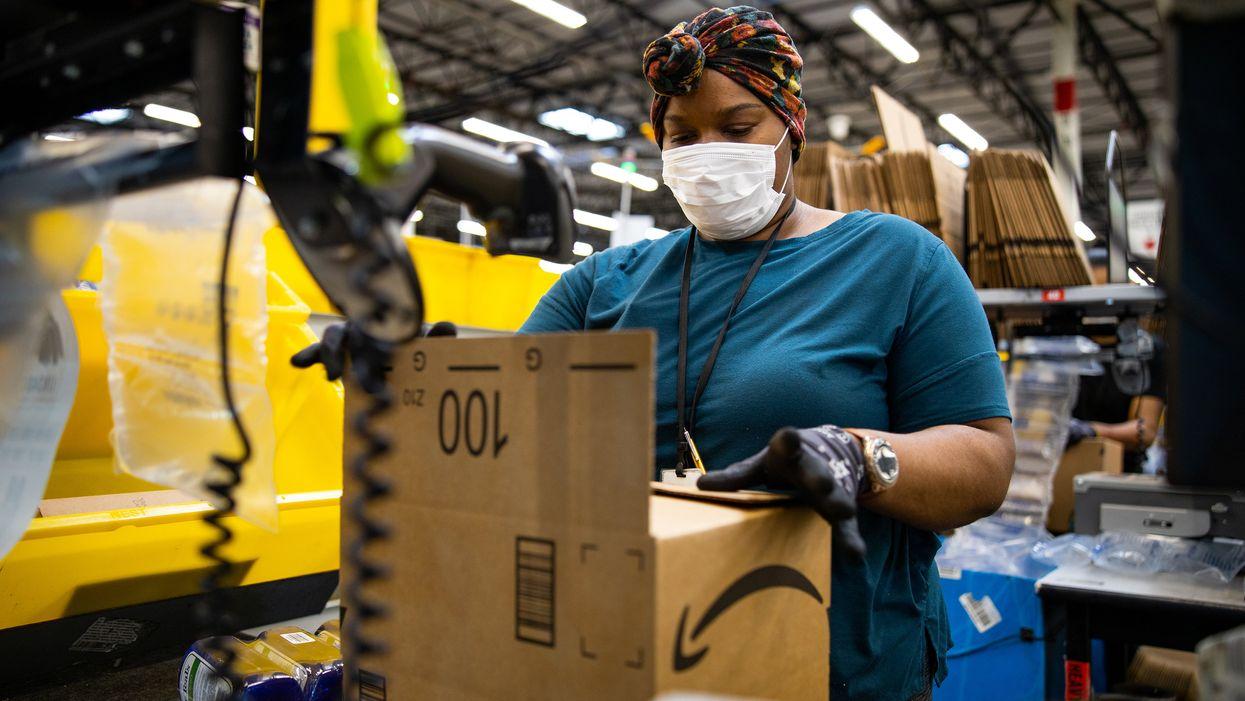Biden endorses Amazon workers' union election