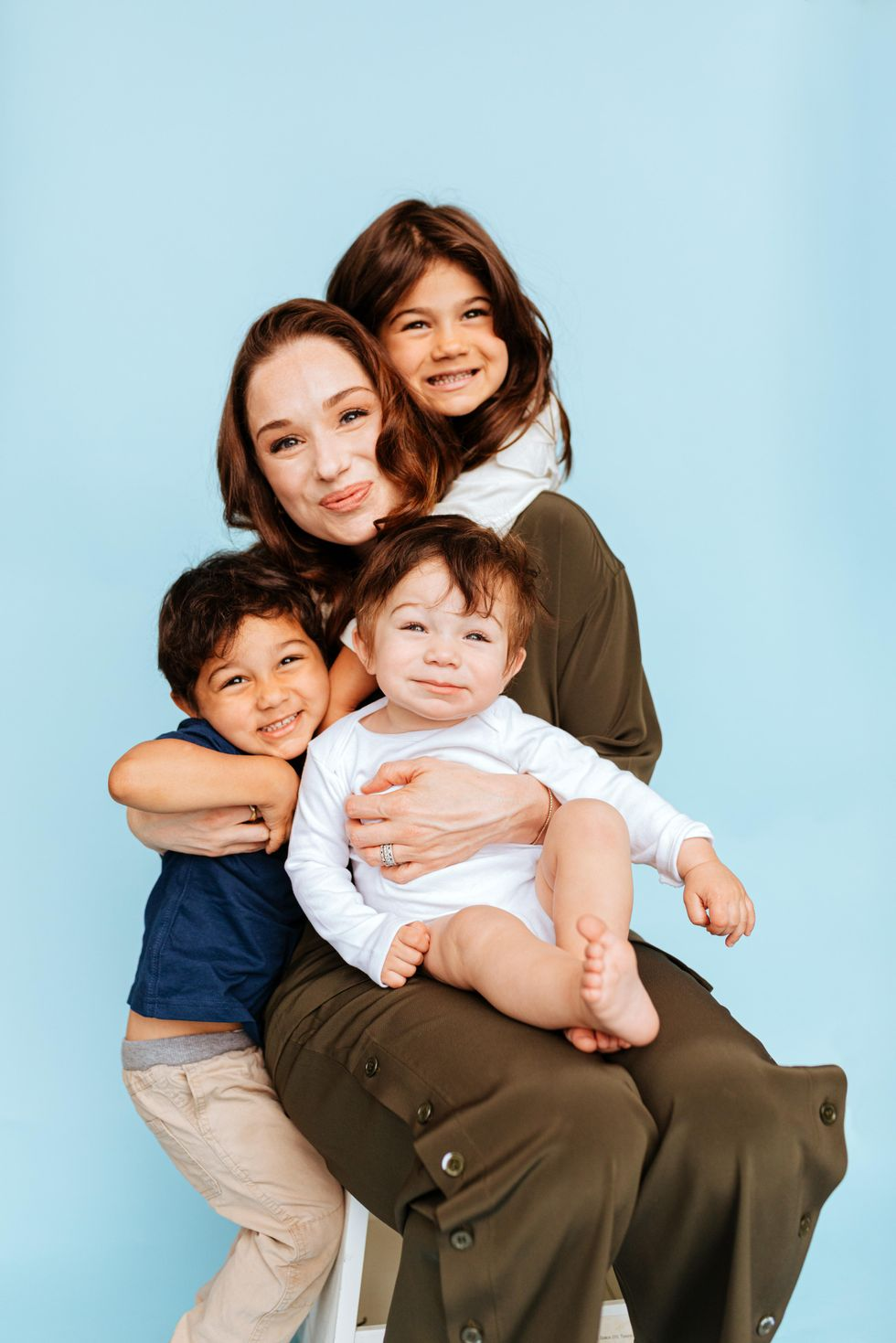 Bobbie CEO Laura Modi with her family.