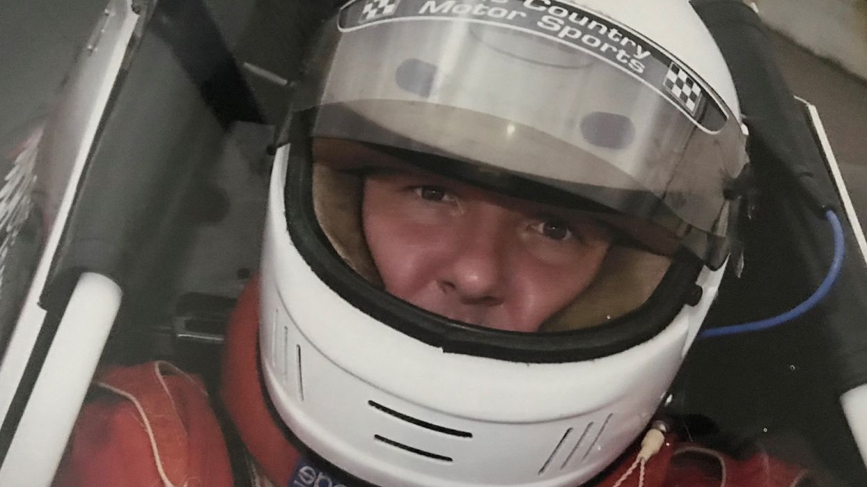 Bret Arsenault in a racing car