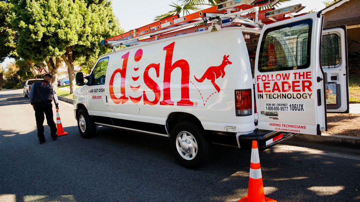 A Dish Network van in California