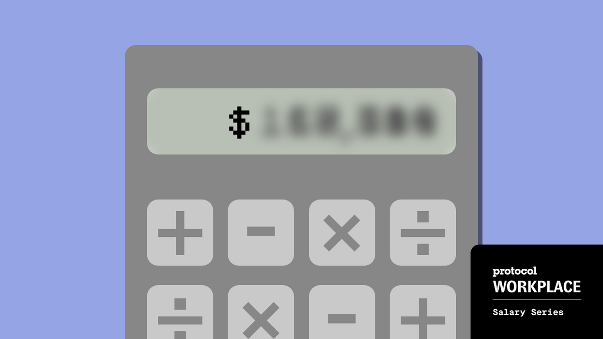 Calculator with blurred out dollar amount