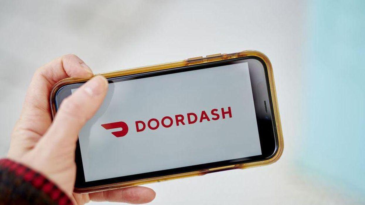 The DoorDash app