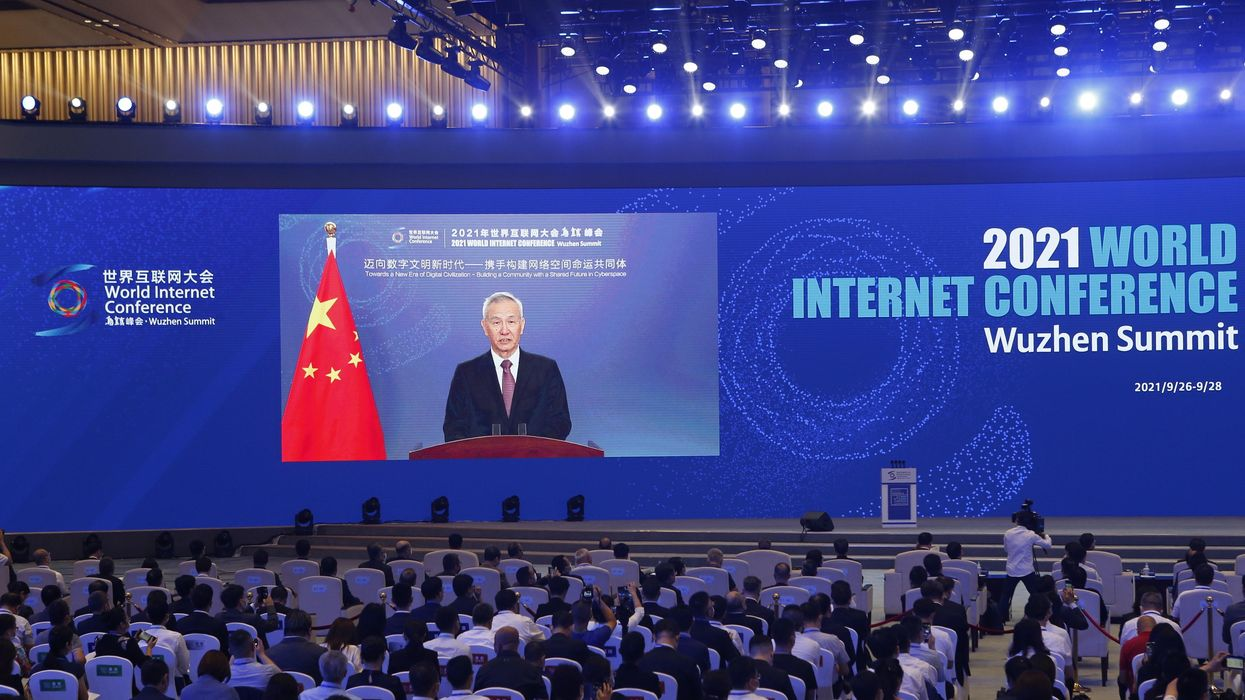 Chinese Vice Premier Liu He at the 2021 World Internet Conference Wuzhen Summit.