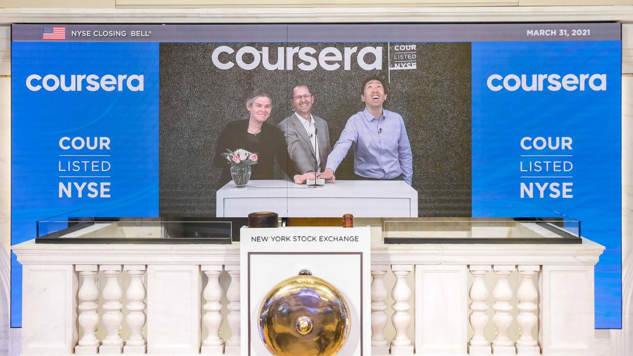 Online learning is 'here to stay': Coursera shares soar in its public debut