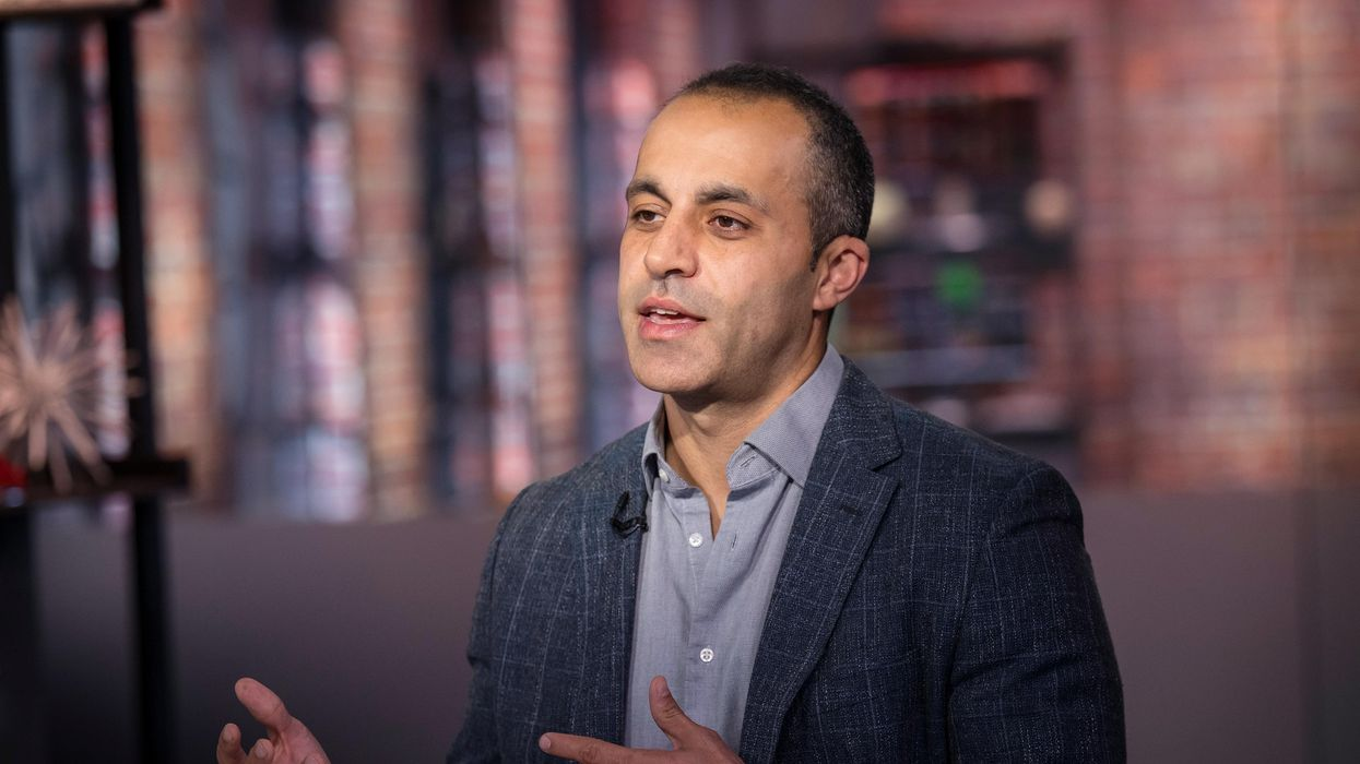 Databricks CEO Ali Ghodsi speaks during a 2019 Bloomberg Television interview.
