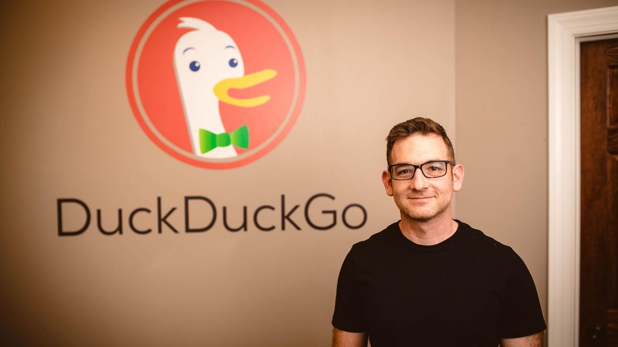 DuckDuckGo CEO Gabriel Weinberg at the company's office.