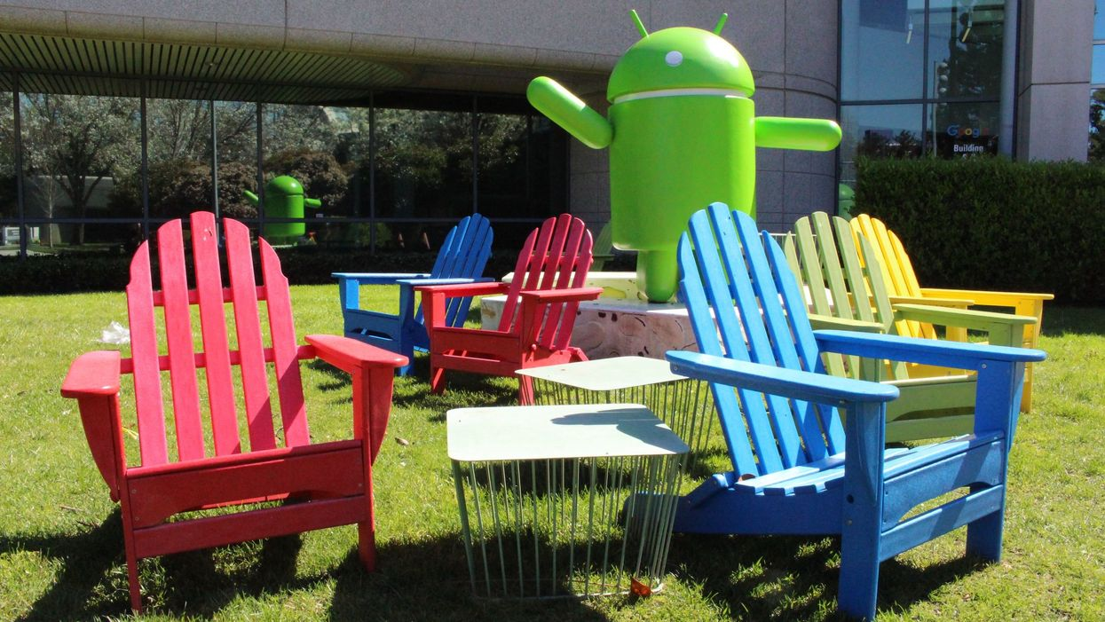 Empty chairs at Google HQ