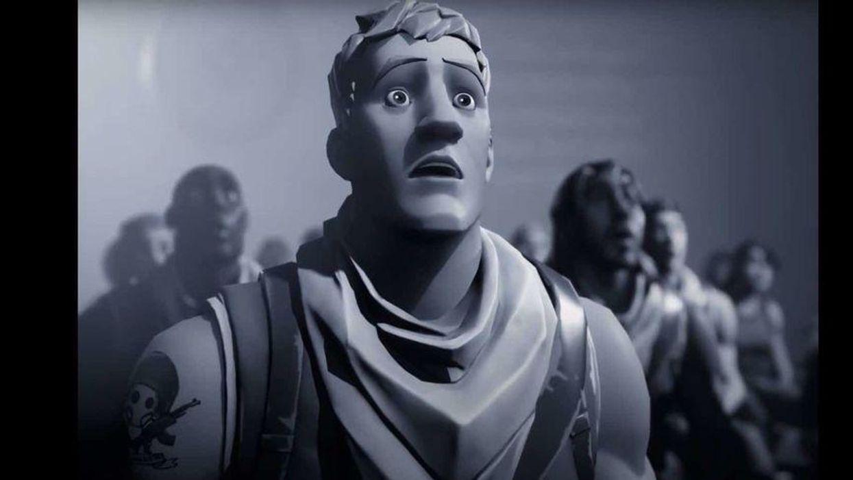An image still of Epic Games' Nineteen Eighty-Fortnite video.