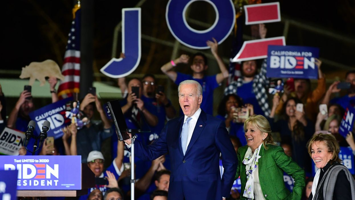 Joe Biden was in California on Super Tuesday. The former vice president had a very good night.