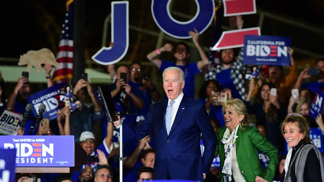 Joe Biden on Super Tuesday