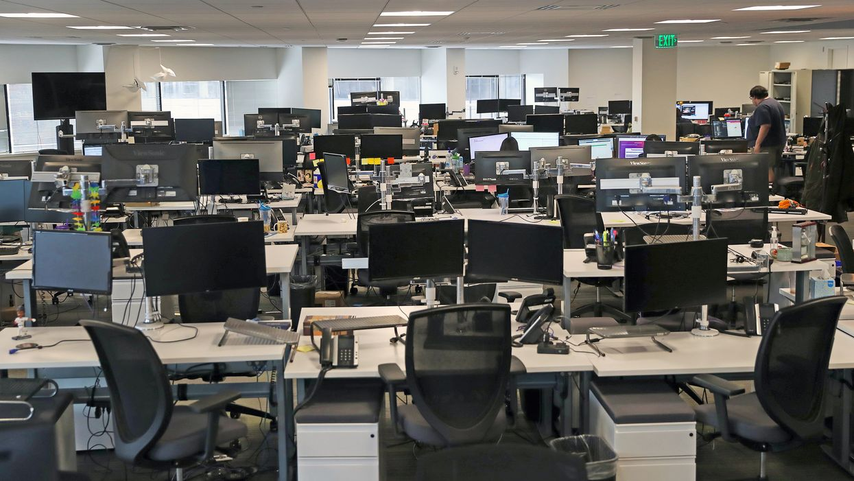 The empty offices of Fuze in Boston