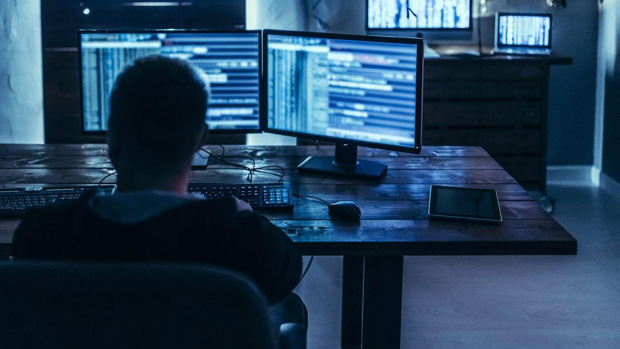 Hacker looks for backdoors