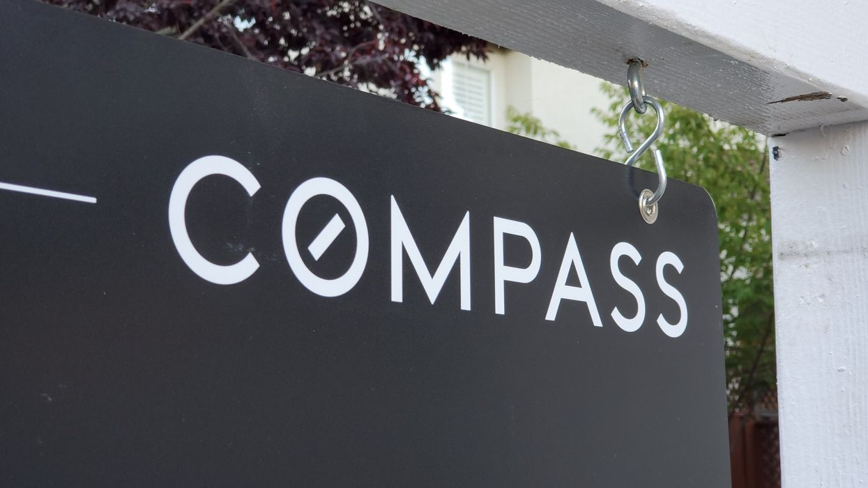 Compass real estate sign