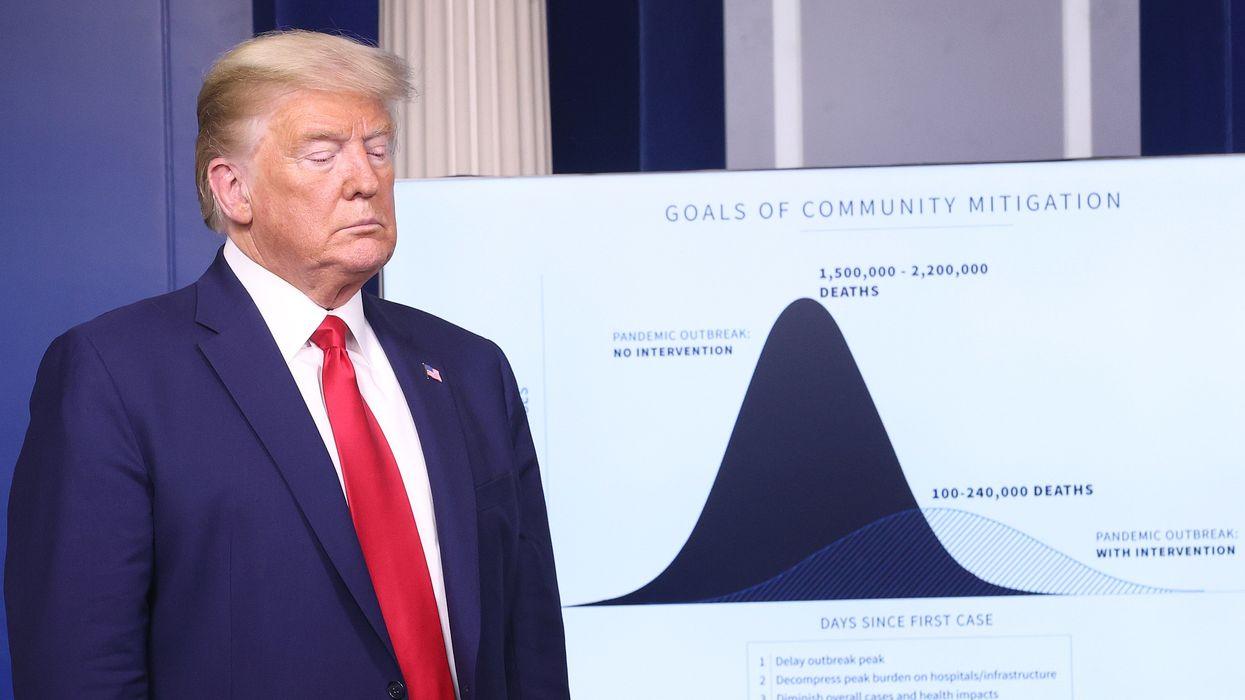 President Trump at a coronavirus press conference