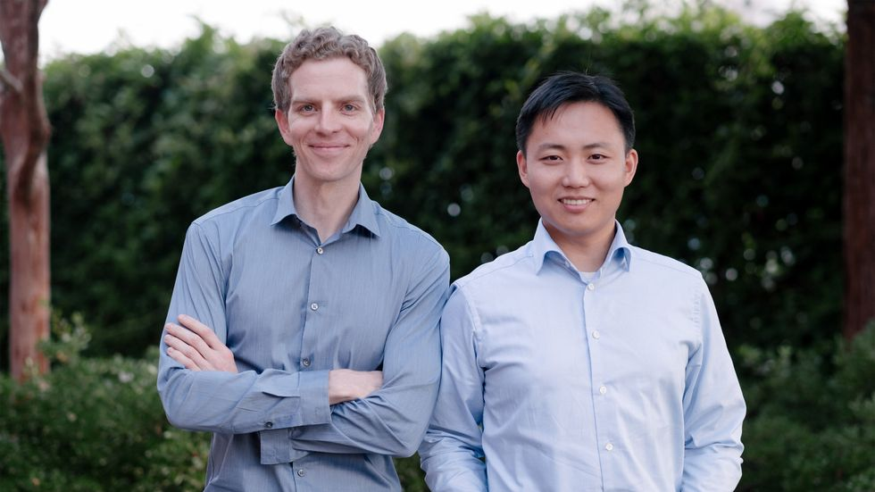 Nuro co-founders Dave Ferguson and Jiajun Zhu