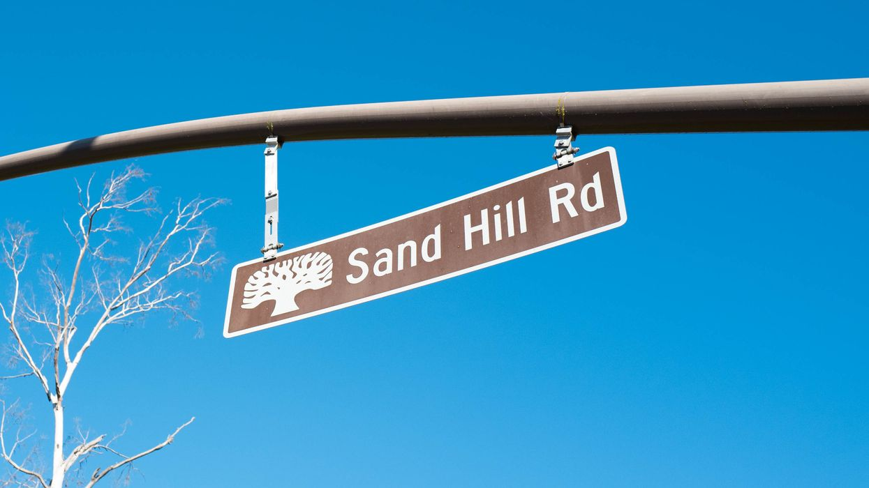 Sand Hill Road street sign