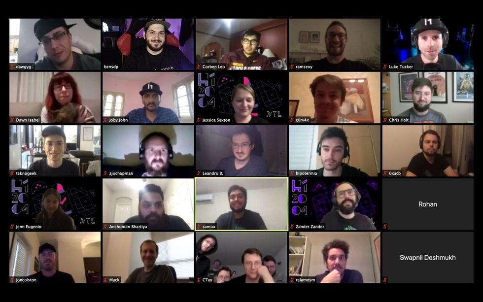 Hackers communicate on zoom