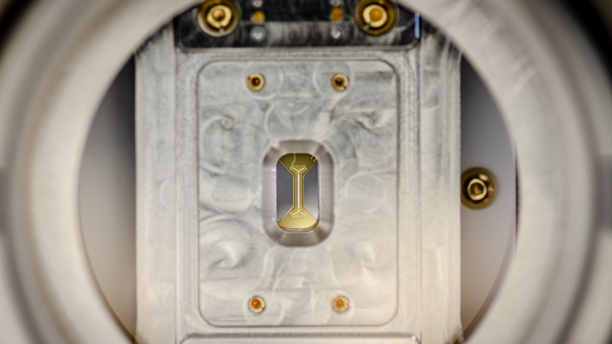 A trapped ion quantum device made by IonQ
