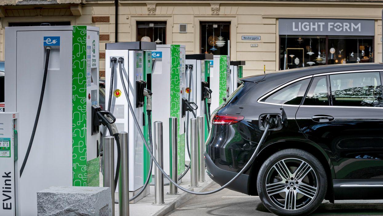 An electric Mercedes-Benz vehicle