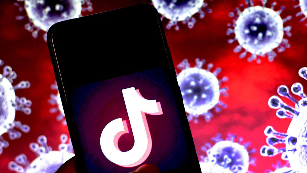 An iPhone with the TikTok logo