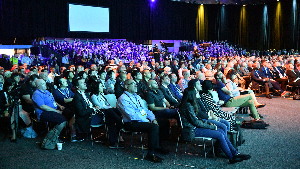 Attendees at the 2019 NAB show opening