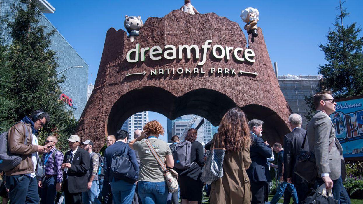 People attending Dreamforce