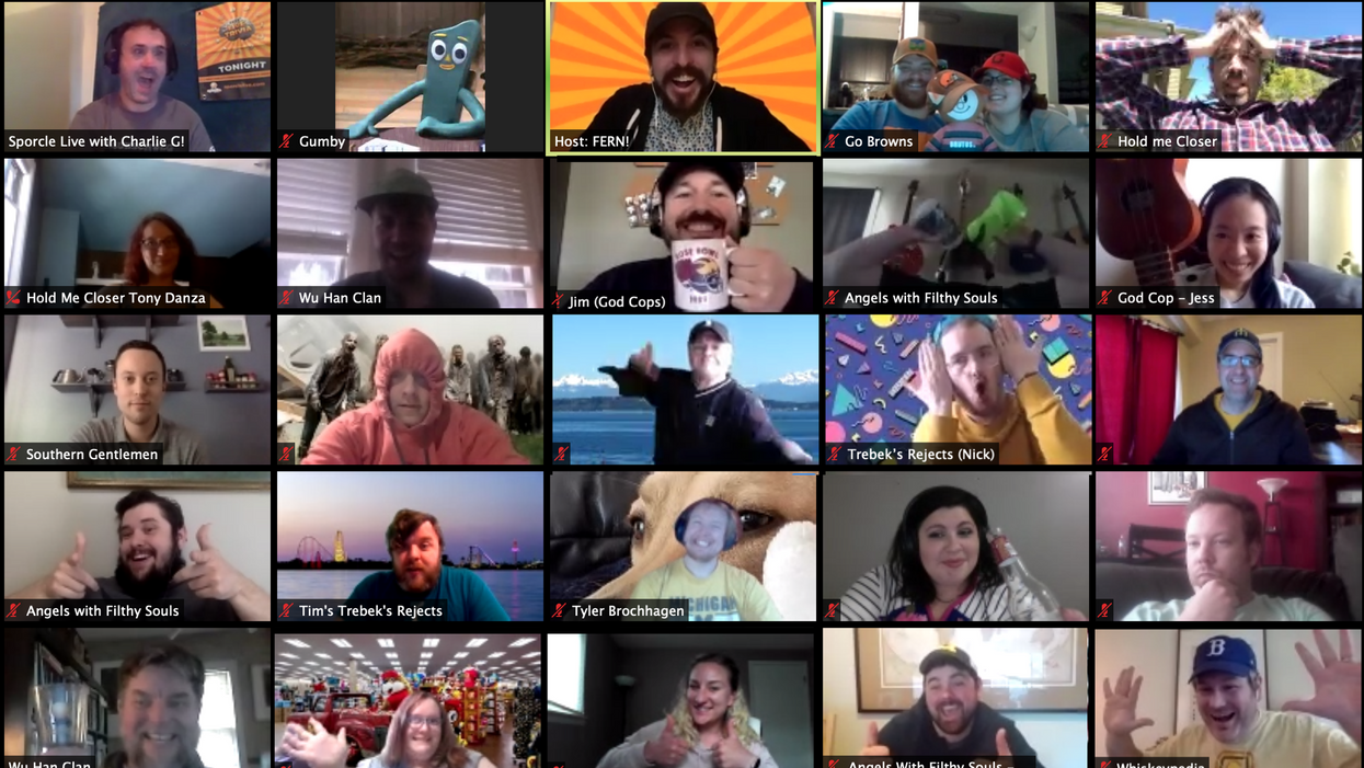 Various people in a Zoom chat