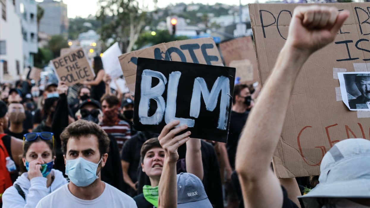 People at a Black Lives Matter protest